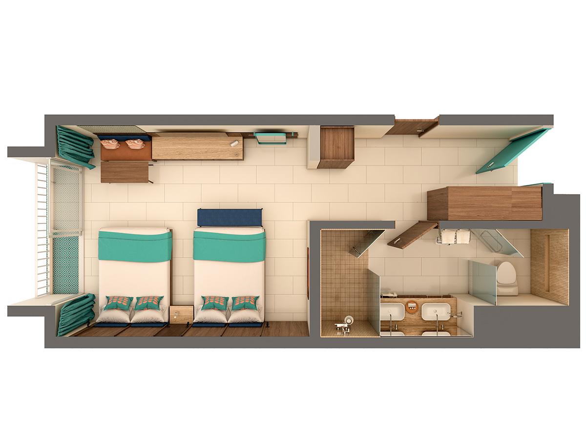 Authentic Uno Floor Plan