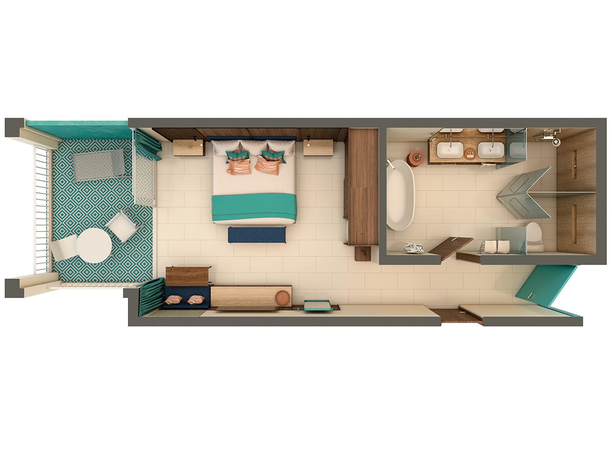 Superior Uno King Floor Plan