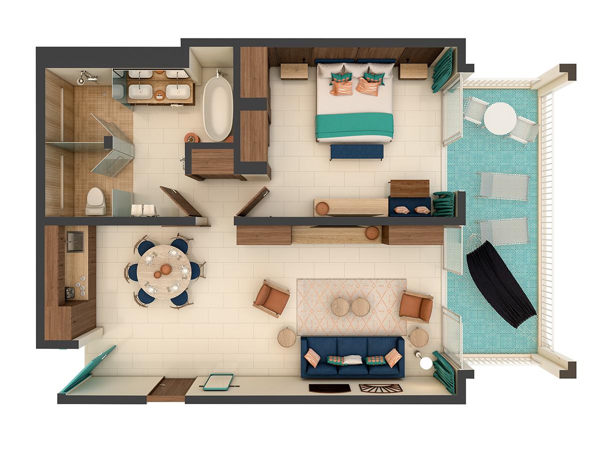 Uno Suite Floor Plan
